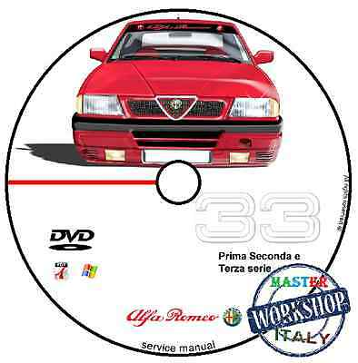 Manuale Officina Alfa Romeo 33 Workshop Manual Service Cd Dvd Software