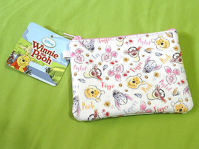NEW Disney Pink Winnie The Pooh ID Case Thin Card Wallet Slim Compact