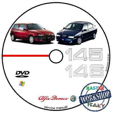 Manuale Officina Alfa Romeo 145 146 Workshop Manual Service Cd Dvd Software