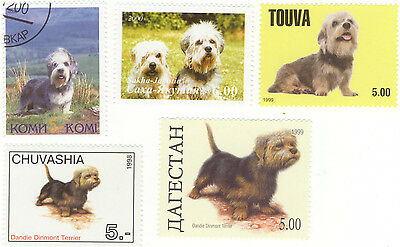 Dandie Dinmont Terrier* International Postage Stamps *Great Gift*