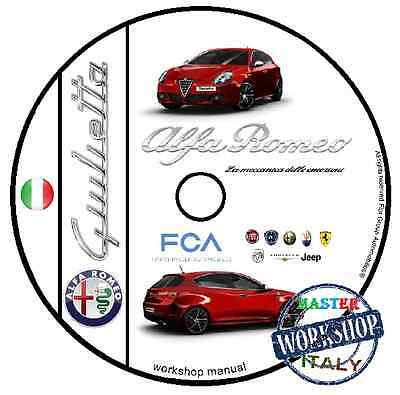 Manuale Officina Alfa Romeo Giulietta 2010 - 2015 Workshop Manual Service Dvd