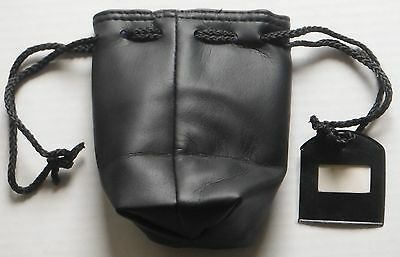 Leatherette Reel Pouch With Draw Cord And Name Tag
