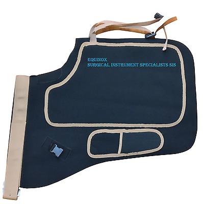 Farrier Shoeing Chaps Apron Neoprene Fabric (Black & Brown) Soft - FREE KNIFE
