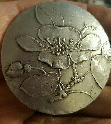 Vintage 1970's Wendell August Forge Aluminum Pin W/ Flowers #105