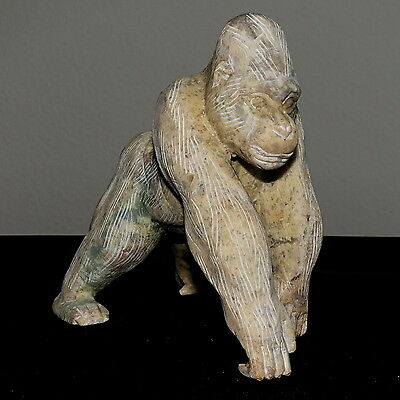 Nicely Made Marble Animal Stone Carving Ape Gorilla Figurine King Kong Statue
