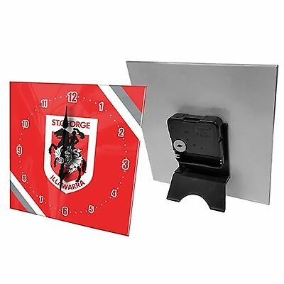 NRL Desk Clock  - St George Illawarra Dragons - Gift Box - Rugby League Football