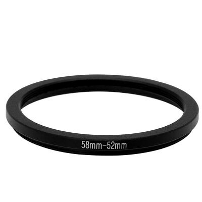 58mm-52mm 58mm to 52mm Step Down Ring Adapter Black for Camera Lens Filter