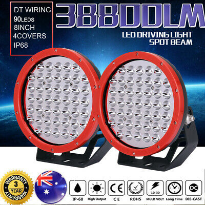 8inch 99999W CREE LED Driving Spot Lights Round Lamp Work Offroad 4x4 Black Jeep