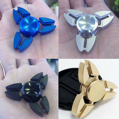 UK Fidget Spinner Aluminum EDC Finger Hand Spinner Stress Relief Toys Kids Adult