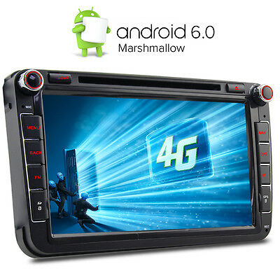 "4G 8"" Android 6.0 DVD GPS Sat Nav for VW PASSAT GOLF MK5 MK6 T5 EOS POLO Skoda"