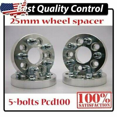 "4pcs Alloy Wheel Spacer Spacers Adapter 5X100 To 5X100  WRX STI BRZ FR-S 1"" 25MM"