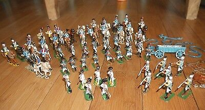 Napoleonic Lead Soldiers With Detachable Heads & Horses Rare Britains Or Similar