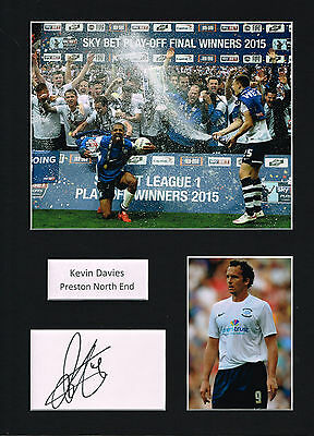 Kevin DAVIES SIGNED Autograph 16x12 Mounted Card AFTAL COA Preston North End
