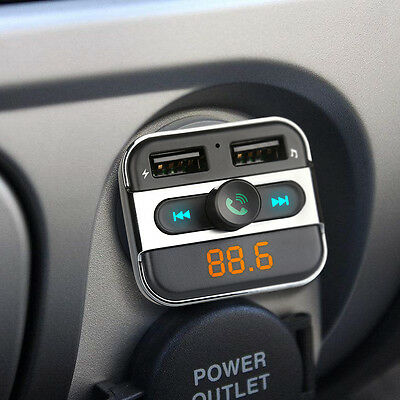 FM Transmitter Bluetooth Car Kit Wireless Dual USB Charger Audio MP3 Player New
