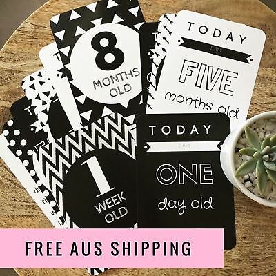 Baby Milestone Cards, Baby Photo Cards - Newborn Photo Props - New Mum Gift