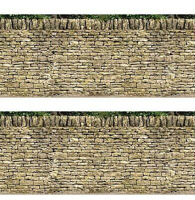 id Backscenes Building Material - OO Gauge Dry Stone Walling 10 A4 Sheets # BM26