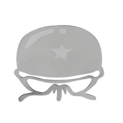 Soldier Hat Print Protection Sticker Decor Decal Silver Tone