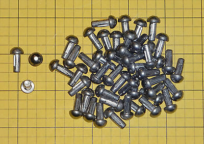 """Stainless steel solid rivets 3/16"""" X 1/2"""", 40 pieces"""