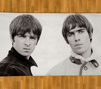 Oasis BEACH TOWEL NEW Summer Liam Noel Gallagher Don't Look Back in Anger