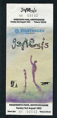 1992 Genesis unused concert ticket We Can't Dance Tour Phil Collins Knebworth UK