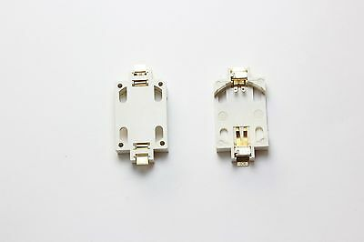 2 PCS CR2032 SMT Battery Holder Gold Plated Contacts