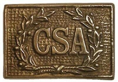 "3"" Csa Square Wreath Belt Buckle Confederate Civil War Reproduction New"