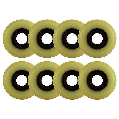 Aggressive Inline Replacement Wheels Black/Yellowed 60mm 90A  8 Pack