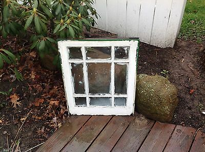 Vintage Sash Wood Window Picture Frame Shabby Chic 9 Pane Farmhouse