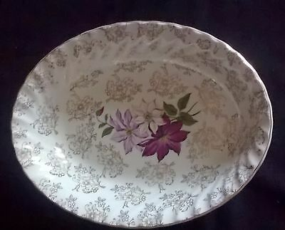 Royal Wessex White Ironstone Floral Bowl Made in England Swinnertons