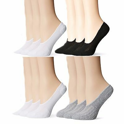Womens Quality No-Show Liner Low Cut Invisible Loafer Peds Cotton Socks Packs