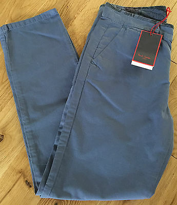 Paul Smith Junior Boys Blue/grey Cotton Chino Trousers Bnwt Age 10 Years