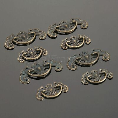 4pcs Antique Retro Kitchen Cupboard Door Cabinet Knob Drawer Shell Pull Handles