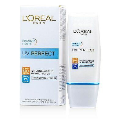 L'Oreal UV Perfect 12H Long Lasting UVA/UVB Protector SPF50 Transparent Skin