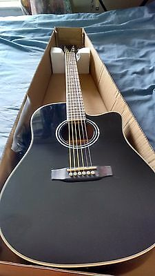 New Single Cutaway Electro Acoustic Guitar black