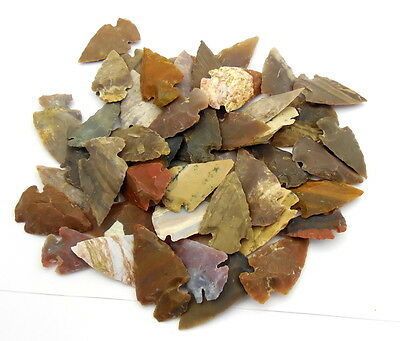 1000 Pcs Lot Of Arrowheads Spearhead Bow Points Hunting Flint Stone Collection