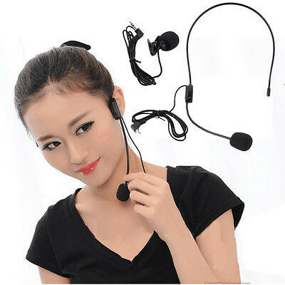 Headset Microphone Wired Microfono for Voice Amplifier Speaker 3.5mm Jack