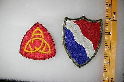 US WW2 Army Cut Edge Misc Southern Defense Eastern Anti Air 2 Patch Lot. OA119