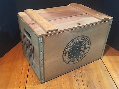 Antique Vintage Advertising Procter & Gamble Ivory Soap Box Wooden Crate