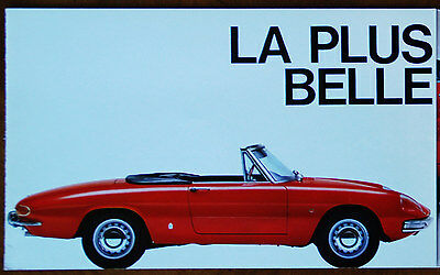 Alfa Romeo 'Round-tail' 1750 Spider Veloce 'Duetto' brochure (1968, French text)