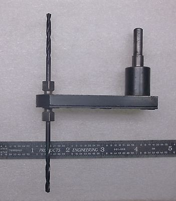 """Pancake Drill Offset Drill Attachment with 1/4"""" shaft for 1/4-28 threaded bits."""