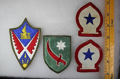 US WW2 Army Cut Edge Misc AAF Aviation Eng Persia N Africa 4 Patch Lot. OA125