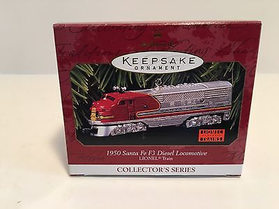 Hallmark Keepsake Ornament of a 1950 Santa Fe F3 Diesel Locomotive Lionel Train