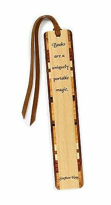 Stephen King Quote Engraved Wooden Bookmark with Tassel Stephen King Quote
