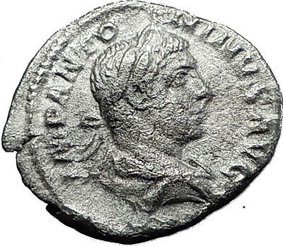 ELAGABALUS  220AD Rome Rare Genuine Authentic Silver Roman Coin JUPITER i60481