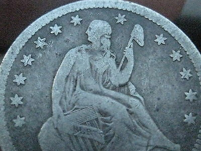 1853 Silver Seated Liberty Quarter- Arrows and Rays, VG/Fine Details