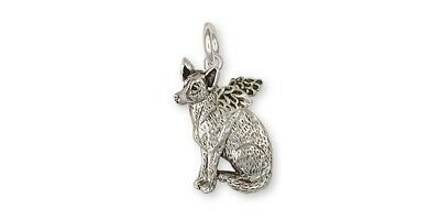 Australian Cattle Dog Angel Charm Jewelry Sterling Silver Handmade Dog Charm ACD