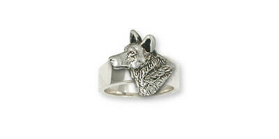 Australian Cattle Dog Ring Jewelry Sterling Silver Handmade Dog Ring ACD3-R