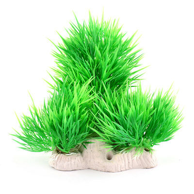 Aquarium Fish Tank Plastic Simulation Water Grass Plant Ornament Green