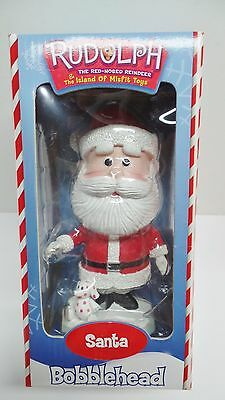 Rudolph The Red Nose Reindeer Island Misfit Toys Santa Claus Bobblehead Box 2001