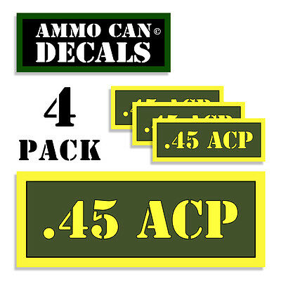 """Ammo Can Labels 380 AUTO Ammunition Case Stickers Ammo Can Decals 4 pack WT 3/"""""""
